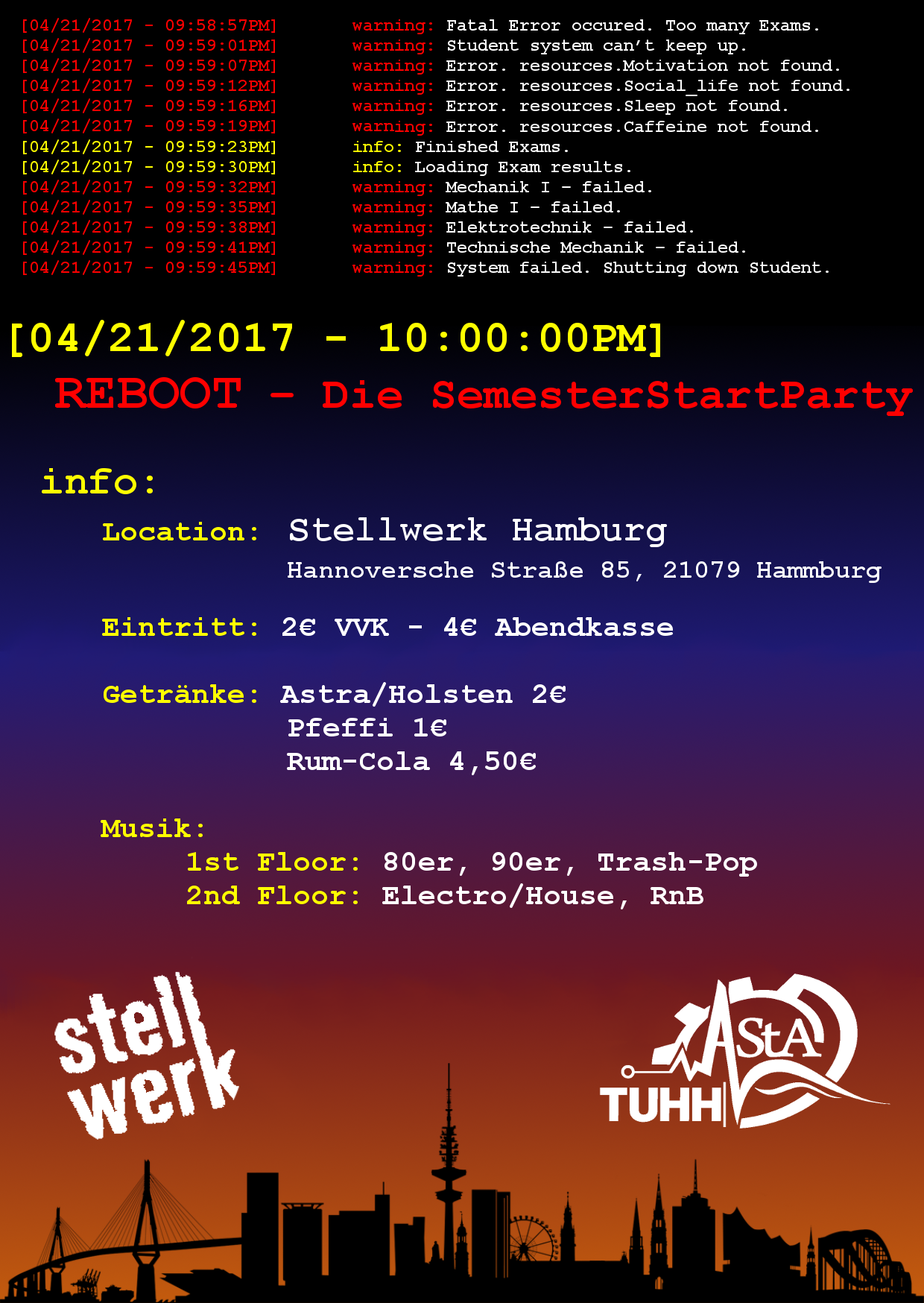 Flyer Reboot 1240x1748 Final Maybe Reboot  Die SemesterStartParty