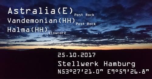 Konzert: Astralia - Vandemonian - Halma