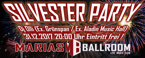 Silvester 2017 By WordsWebdesign 500 Silvesterparty ! Dj Olli (Ex Grünspan, Aladin) Rock from the 70th up to know !