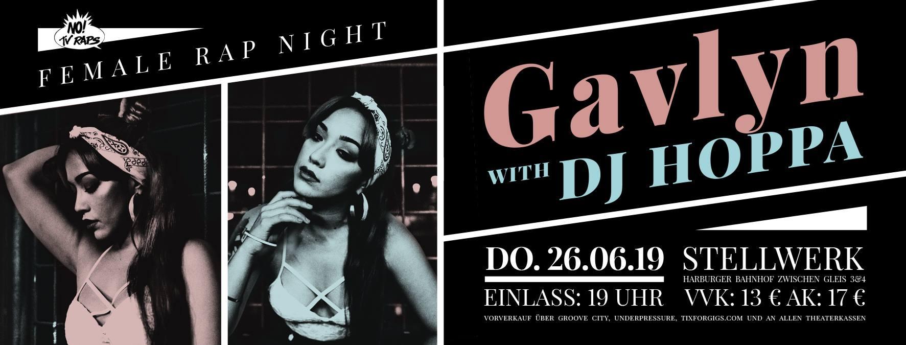 Female Rap Night feat. Gavlyn & DJ Hoppa