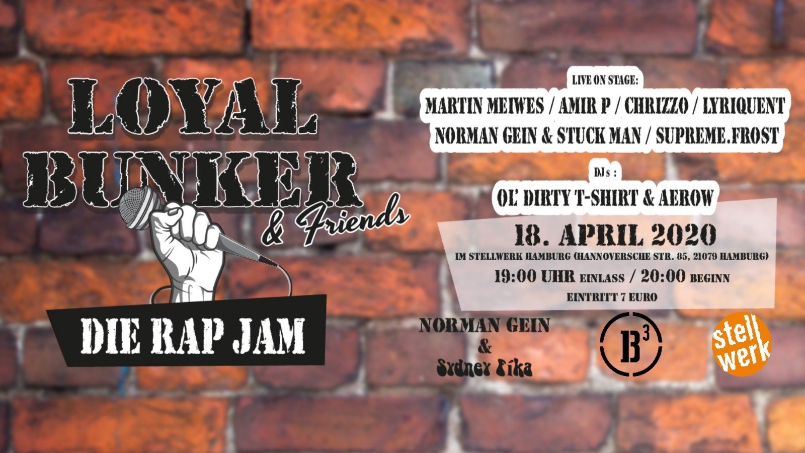 Verschoben!!! Loyal Bunker & Friends - Die Rap Jam