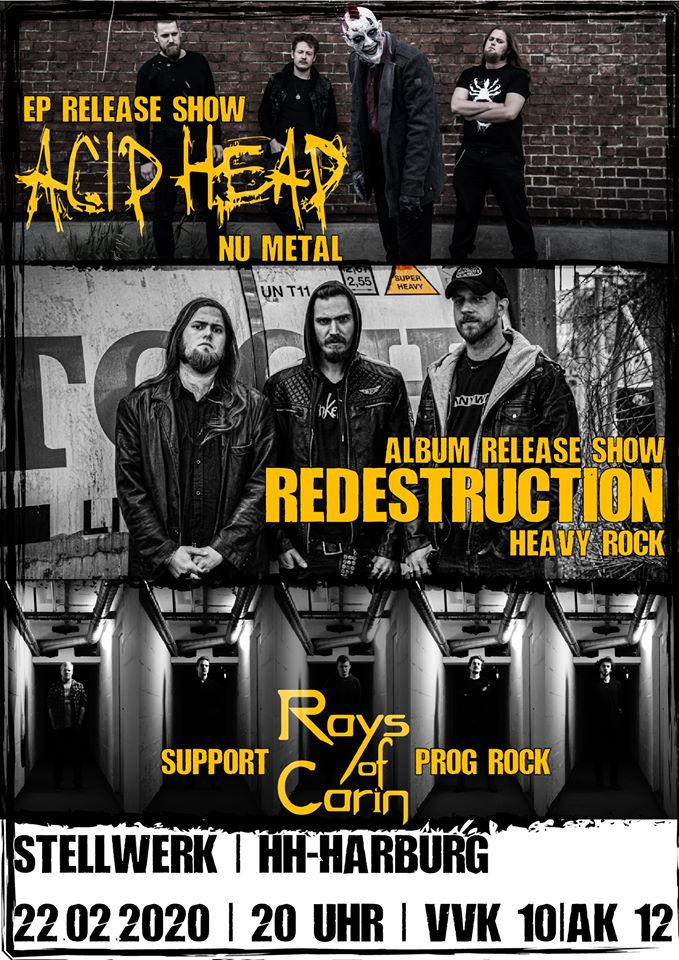 Acid Head & Redestruction Double Release Gig, Support: Rays of Carin